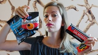 Eating Salmiakki Taste Test | Finnish Cuisine & Finnish Food