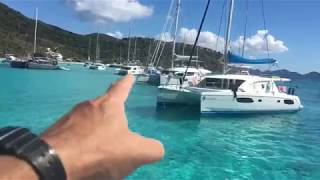Anchoring in White Bay Jost Van Dyke Soggy Dollar Bar Dec 2019 - Details How To