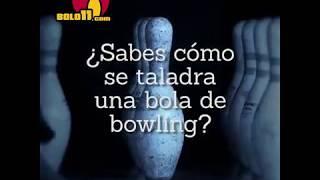 Taladrado de bola de bowling
