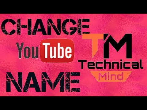 How we can Change channel name Easy Steps
