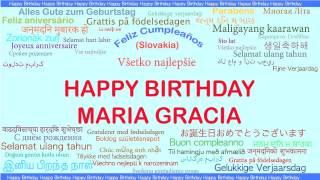 MariaGracia   Languages Idiomas - Happy Birthday