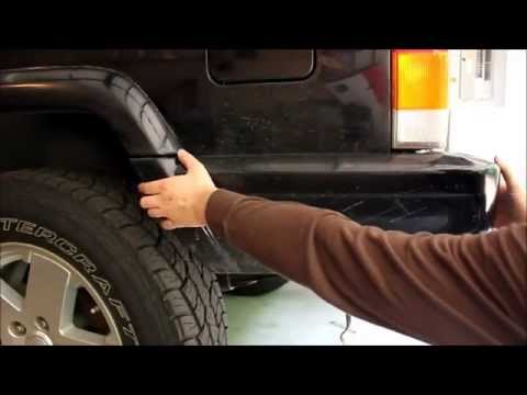 How to remove rear bumper end caps on a 97+ Jeep Cherokee XJ