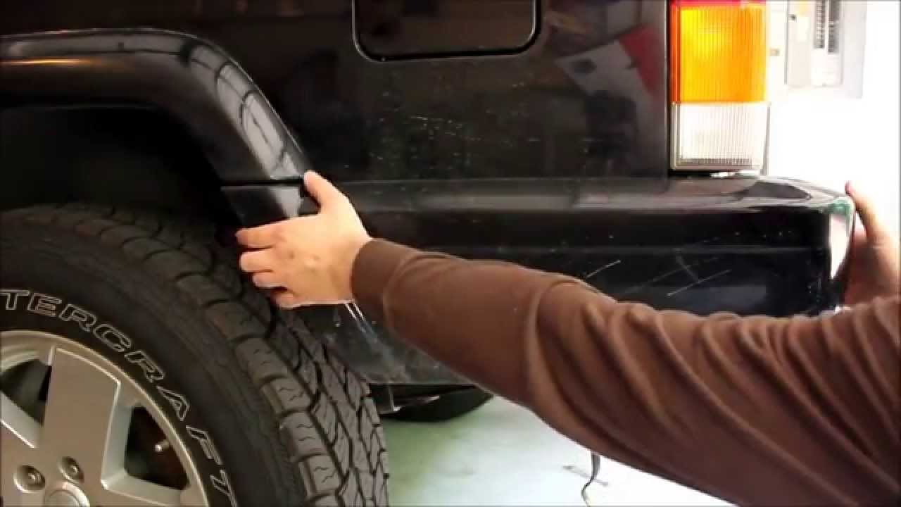 How To Remove Rear Bumper End Caps On A 97 Jeep Cherokee Xj Youtube