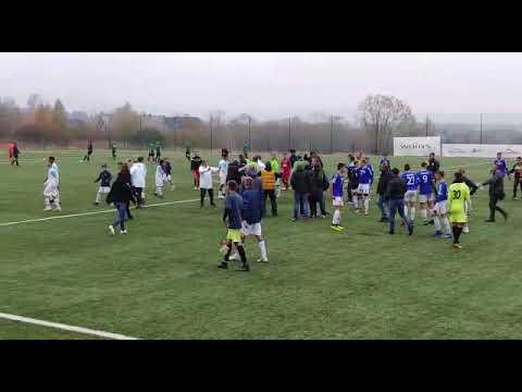 Bijatyka po meczu FASE Szczecin - Olympique Marsylia. Wideo