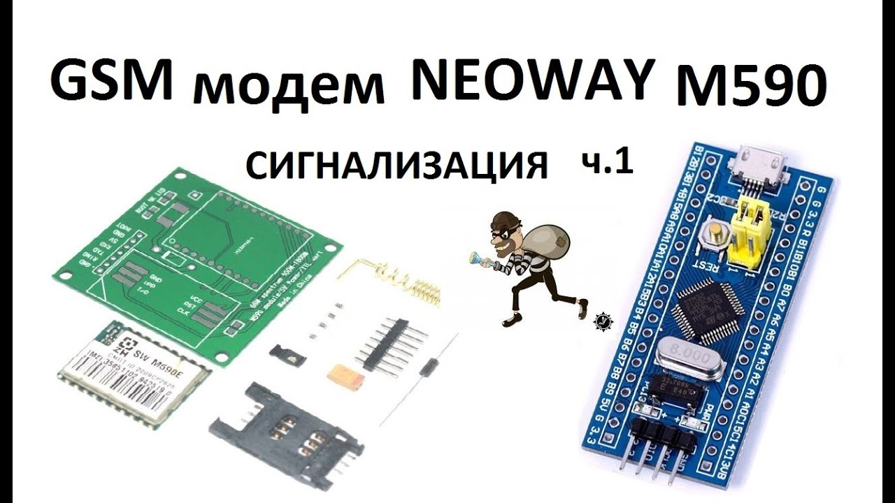 STM32 GSM модем M590 прием-передача по USART