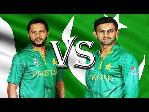 Shahid Afridi vs Shoaib Malik. Who is the Best Batsmen?