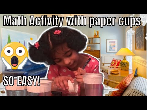 Math Activity Game with just paper cups | DIY Kids