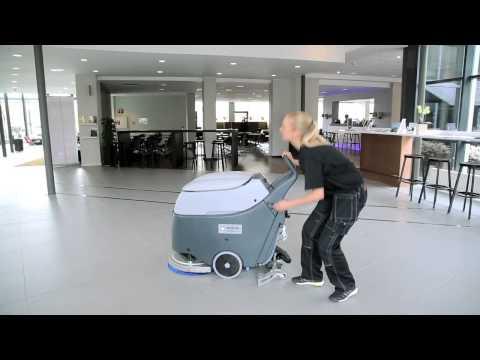 Nilfisk SC450 – 24V Battery Powered Floor Scrubber Drier