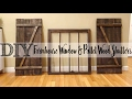 *DIY* Pallet Wood Shutters with Matching Farmhouse Window