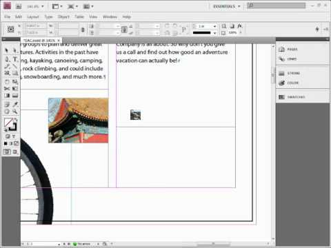how to get the toolbar in indesign