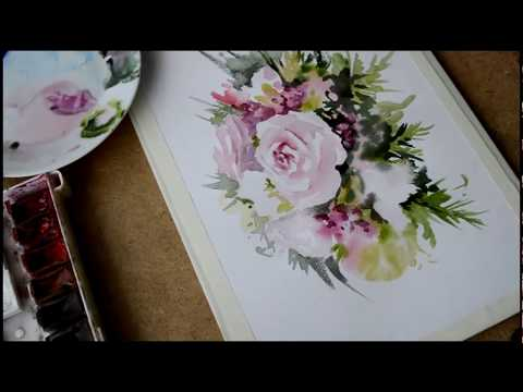 Мастер класс Цветы в акварели  Watercolour flowers