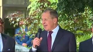 Выступление С.Лаврова на открытии Мемориального камня в Анголе