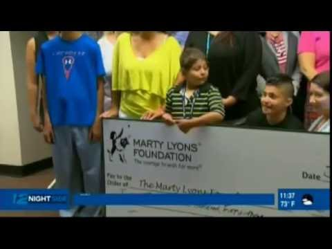 News 12 Long Island - Marty Lyons Foundation Ice Cream Party for Wish Child - July 29, 2016