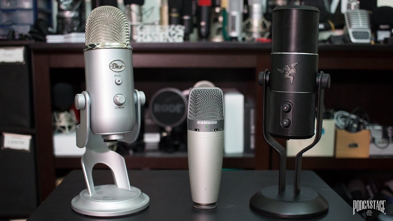 Blue Yeti Vs Razer Seiren Elite Vs Samson C03u Comparison
