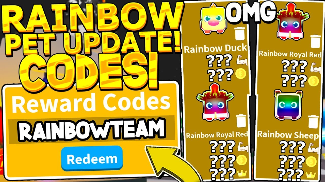 Team Upgrade Roblox - Full Rainbow Pet Team Update Codes In Saber Simulator Roblox