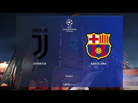 دوري ابطال اوروبا 2020 #1 | مباراة برشلونة ويوفنتوس | ميسي ضد رونالدو  PES 2019