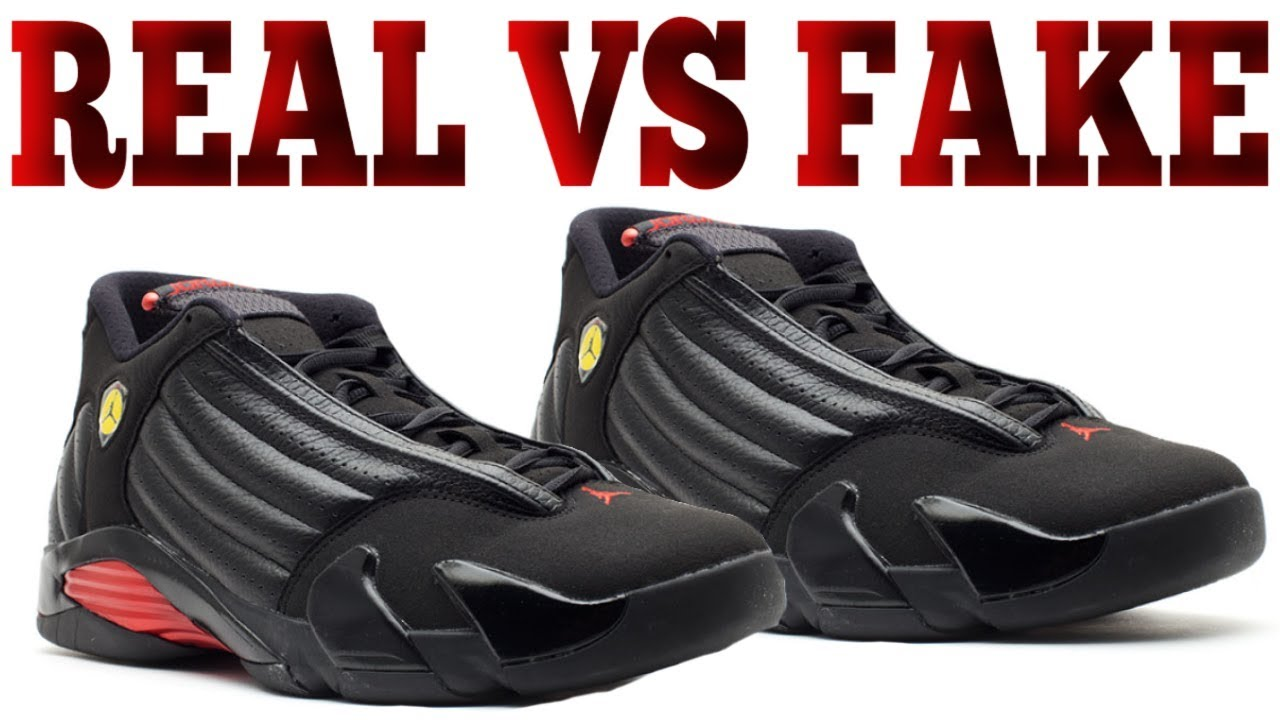 48ad1978c62b5d Real vs Fake Air Jordan 14
