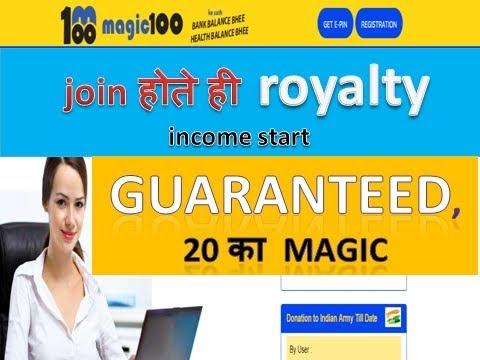 join होते ही  royalty income start, Guaranteed, 20 का magic