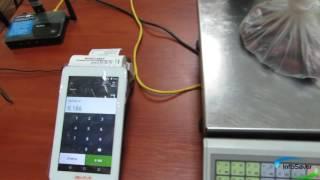 Работа на онлайн кассе Эвотор с весами