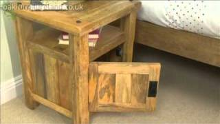 Baku Light Mango 1 Door Bedside Cabinet From Oak Furniture Land
