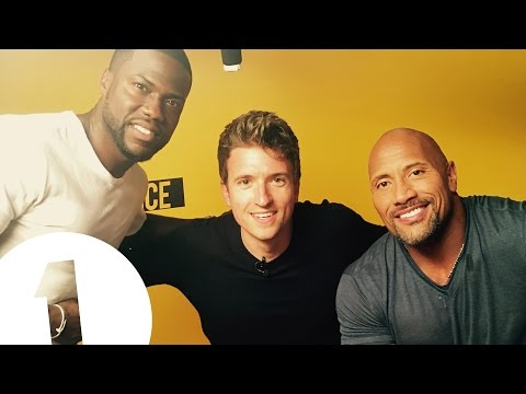 """""""Greg's about to cry!"""" - Dwayne 'The Rock' Johnson & Kevin Hart meet BBC Radio 1's Greg James"""