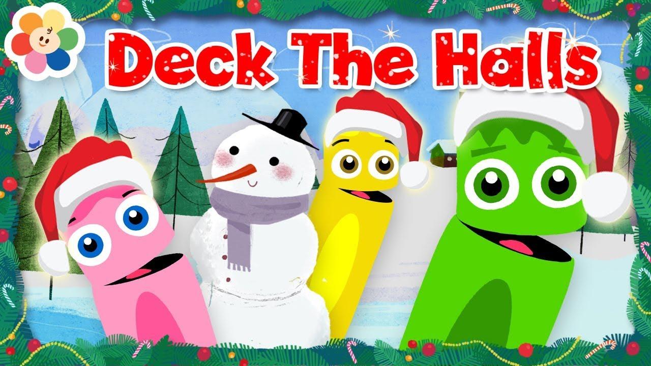Kids Christmas Songs: Deck The Halls | Christmas Music | Coloring ...