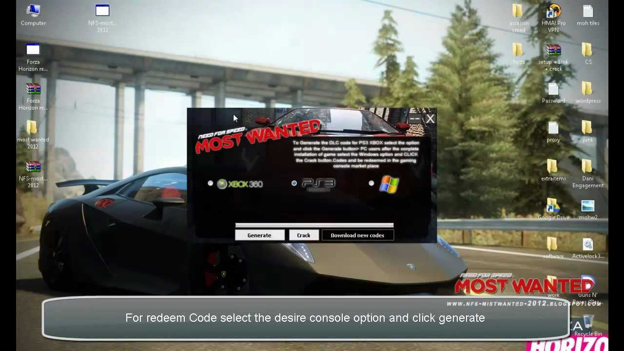 Need For Speed : Most Wanted DLC Codes For PS3 - Xbox 360 - PC ...