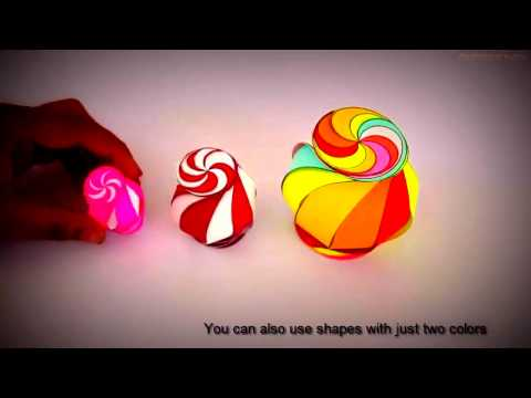 easyest way - How to make colourful paper lantern at home  -  origami