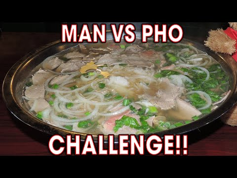DELICIOUS Man vs PHO Challenge in MARYLAND!!