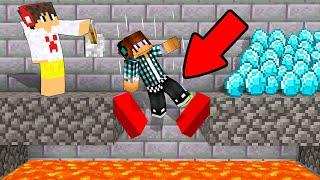 EU CONSTRUÍ UMA ARMADILHA TROLL PARA O MEU AMIGO !! (Minecraft)