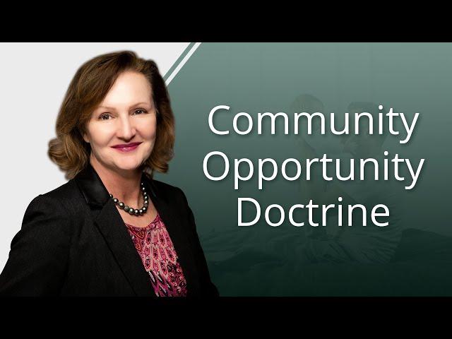 Community Opportunity Doctrine