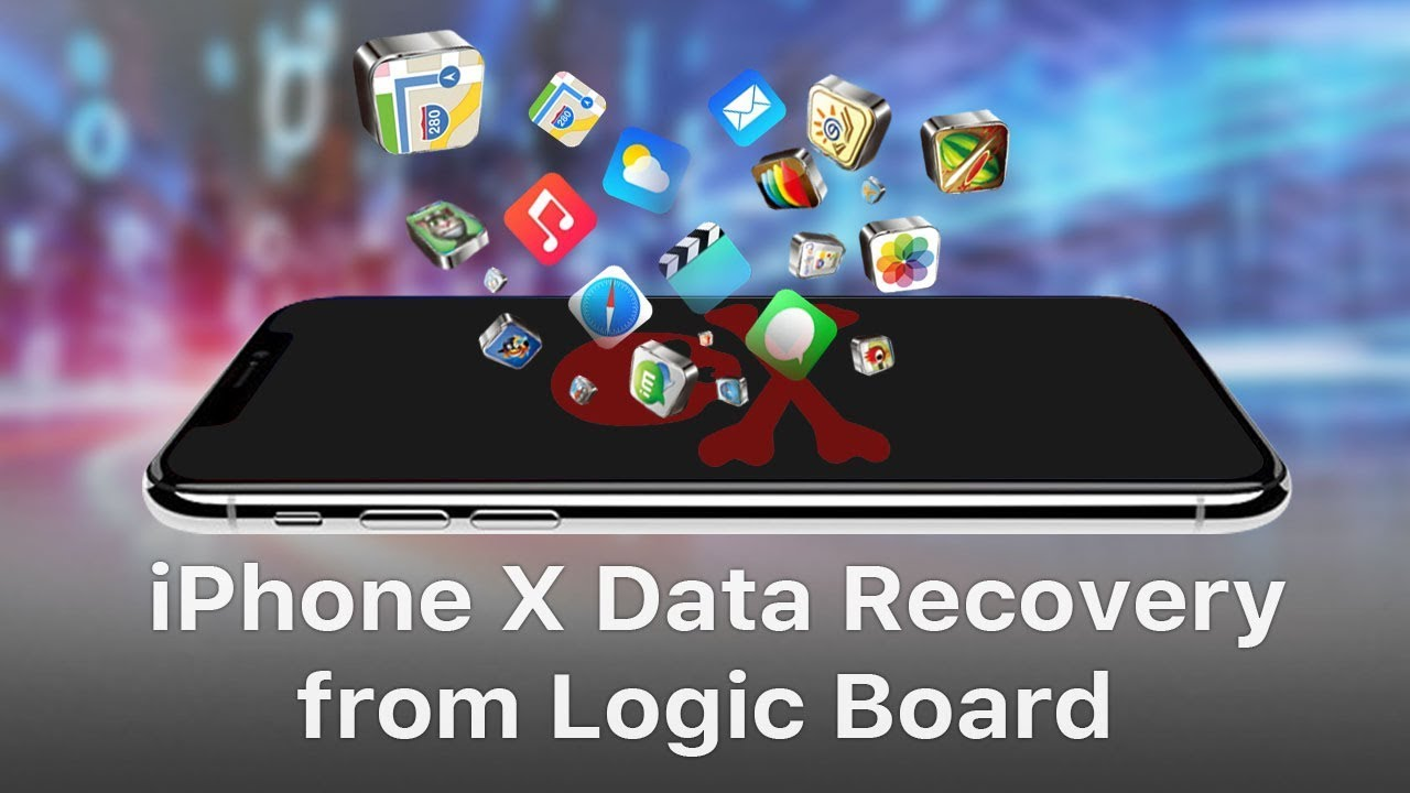 iPhone X Data Recovery From Logic Board  Chips Transferring  YouTube