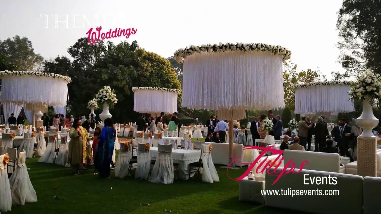 Outdoor Wedding Reception Decor Setup By Tulips Events In
