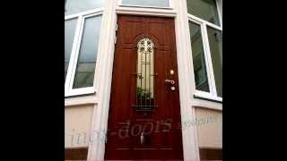 Дверь со стеклом и ковкой(Элитные двери уличного применения с элементами стекла и ковки. (под заказ) http://inox.dn.ua/lyuks-dveri., 2013-10-02T12:59:23.000Z)