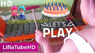 Niala Belajar Music Kulintang Instrument anak anak ❤ Playing Xylophone Traditional Music Instrument