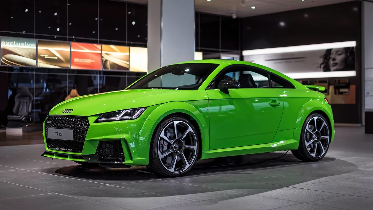 audi tt rs 2016 lime green - youtube