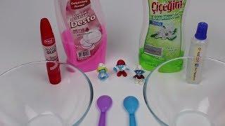 BİM vs A101 Bulaşık DeterjanIı Slime Challenge!! | Desto mu Çiçeğim mi? | #Şirinler! Bidünya Oyuncak