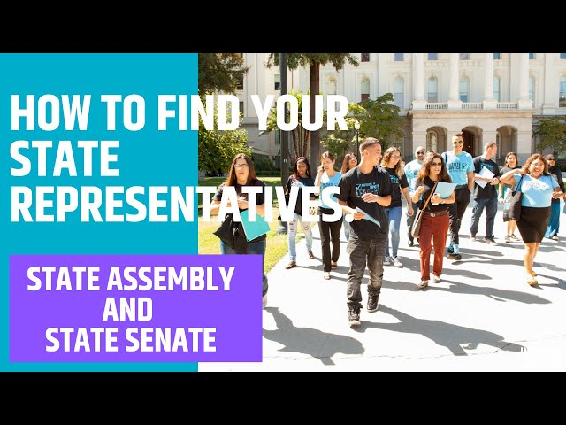 How to find your CA State representatives.