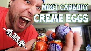 Most Cadbury Creme Eggs Eaten in One Minute (Guinness World Records)