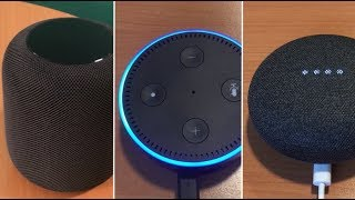 Apple Homepod, Amazon Echo ou Google Home, qui est le meilleur assistant vocal?