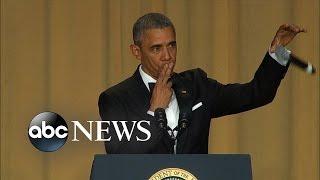 president obama drops the mic white house correspondents dinner 2016