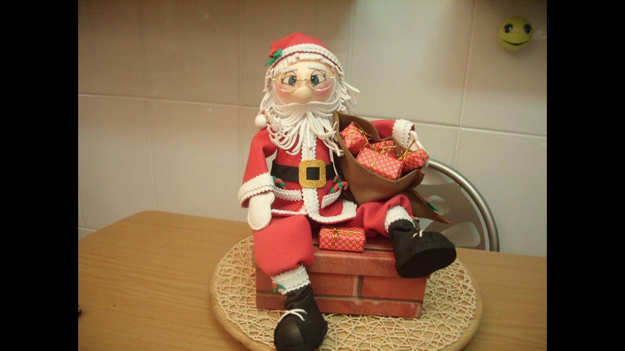 Como hacer fofucho papa noel santa claus youtube - Crear christmas de navidad ...