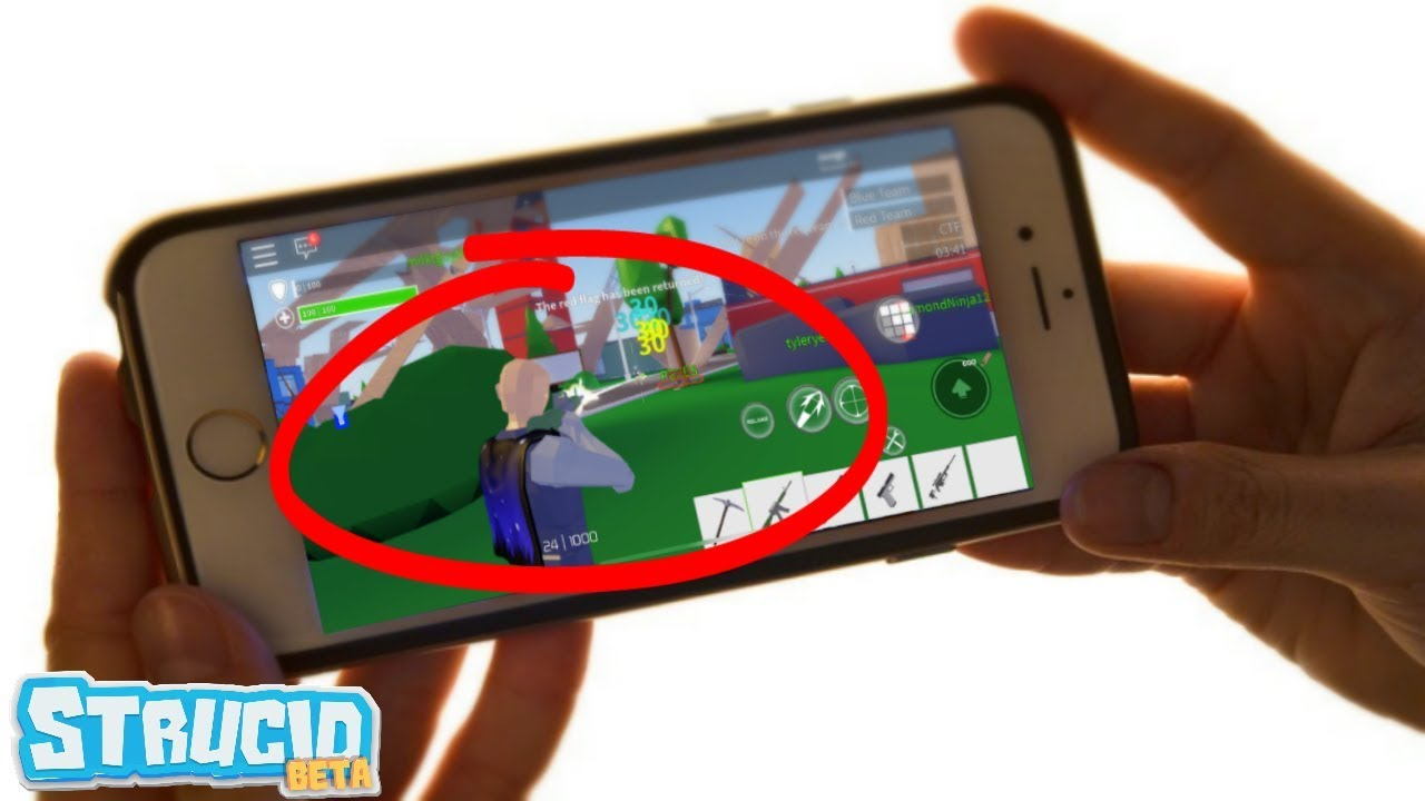 Strucid Mobile Except.. I HAVE AIMBOT (Roblox) - YouTube
