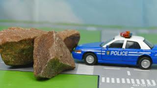 Мультик про машинки - 205 серия:  Полицейская погоня, Гоночная машина, Монстер Трак, Авария