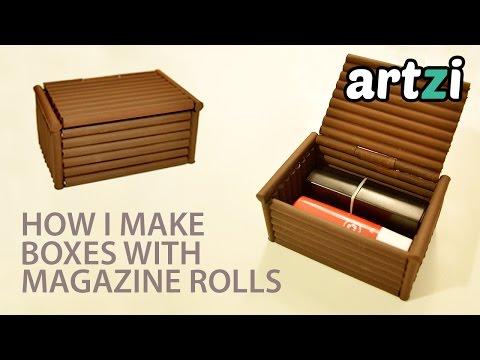 DIY Magazine Rolls Box :: Making a Prototype