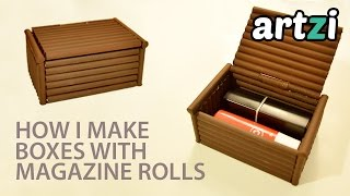 DIY Magazine Rolls Box :: Making a Prototype