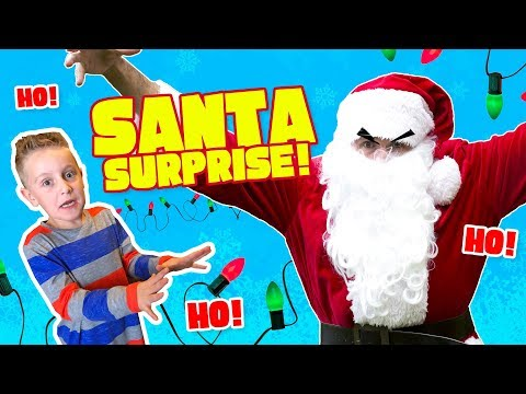 Santa Claus Surprise For The KIDS! Christmas Family Fun!
