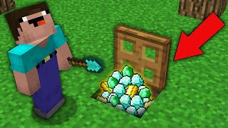 Minecraft NOOB vs PRO: NOOB FOUND EPIC TREASURE UNDER SECRET TRAPDOOR! Challenge 100% trolling