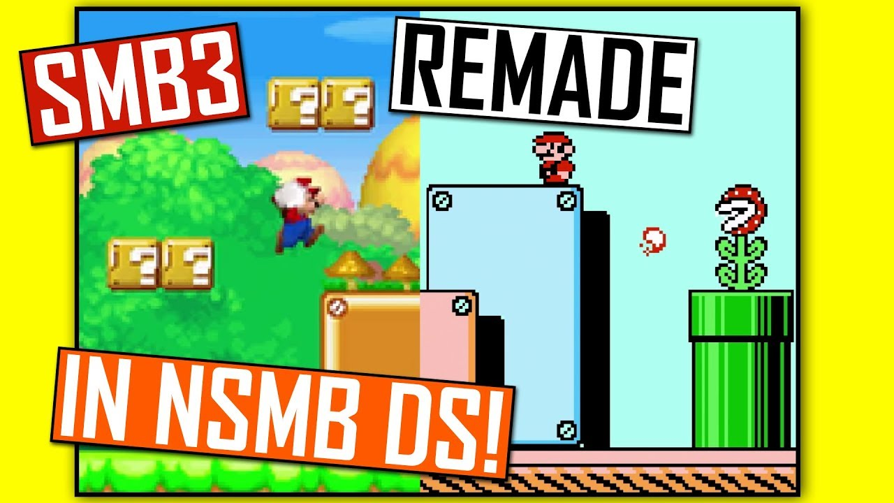 Super Mario Bros 3 Remade In New Super Mario Bros Ds Rom Hack Youtube