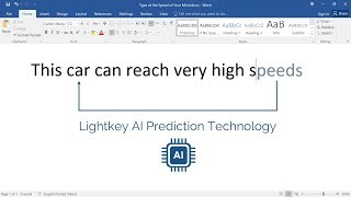Lightkey Powered by AI - Text Prediction Software for Windows